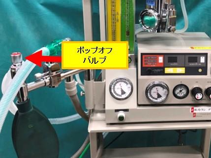 動物用人工呼吸器のポップオフバルブ
