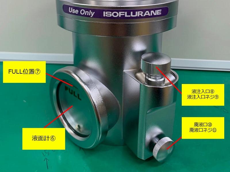 気化器 使用前準備・操作方法